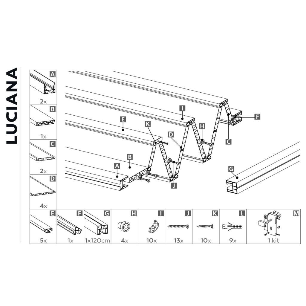 Luciana szürke szövet